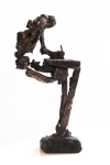 """William"" // bronze // length=8 cm / height=17,5 cm"